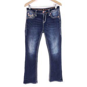 Rock Revival Vivian Curvy Boot Embellished Jeans